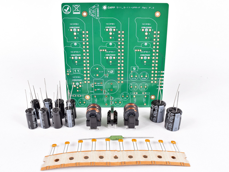 The CAPI 9 11 VPR Filter Parts Is A Collection Of Components And Enhanced Backplane PCB Recommended To Complete Assembly XLR Or DB25 500